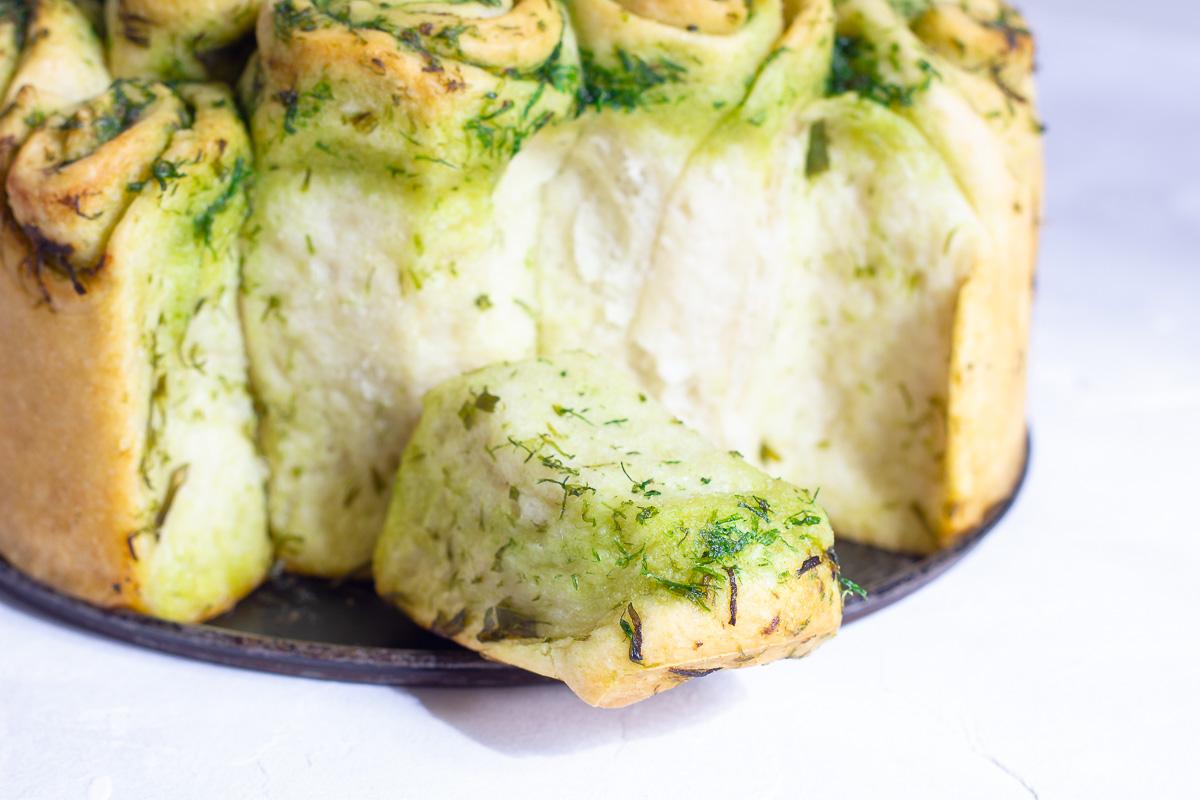 Vegan Wild Garlic Pull Apart Bread