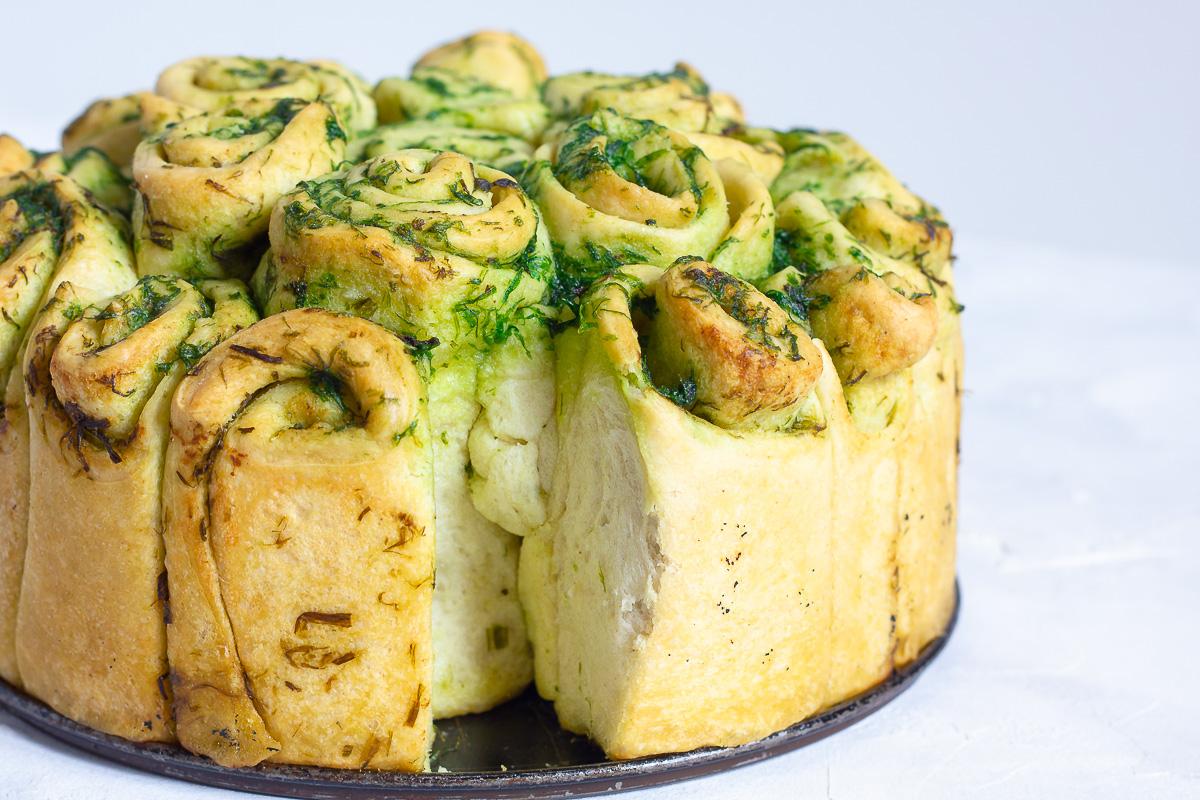 Veganes Bärlauch Zupfbrot