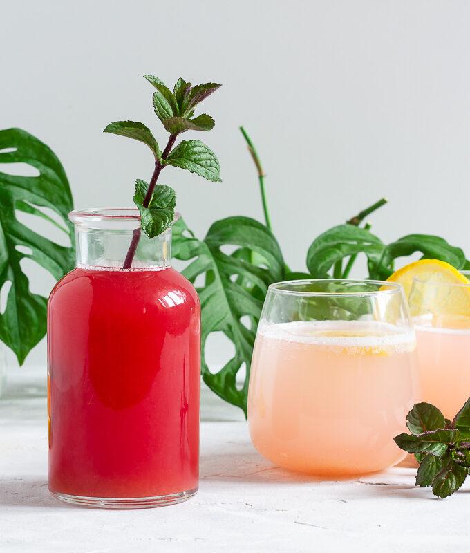 Rhabarber-Sirup & -Limonade