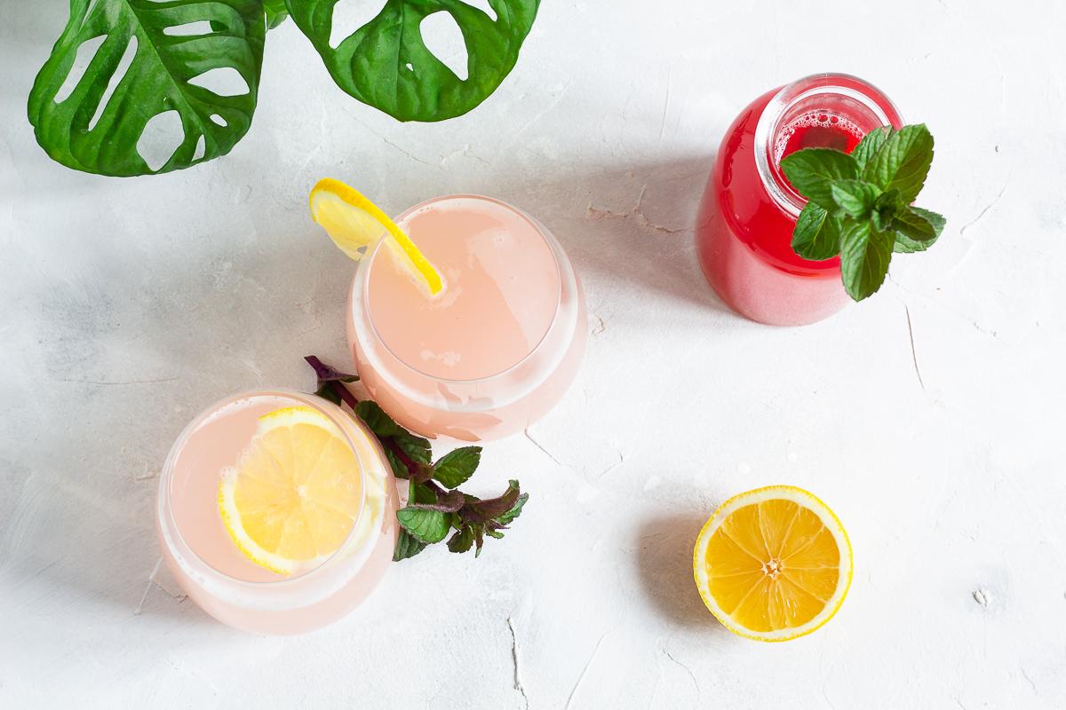 Rhubarb Syrup & Lemonade