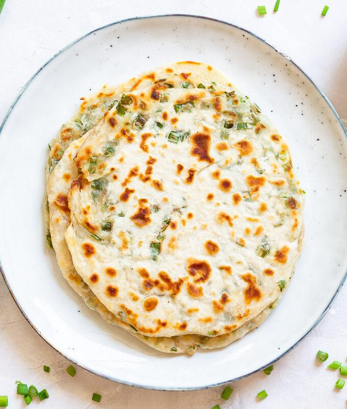 Chinesische Frühlingszwiebel Pancakes