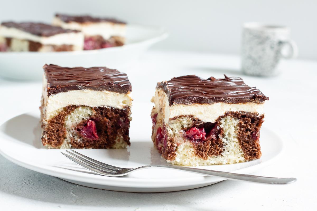 Vegan German Donauwelle Cake