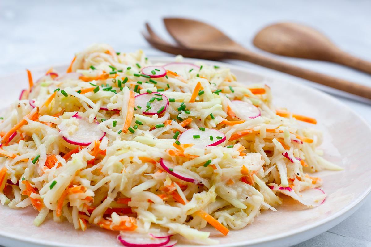 Veganer Kohlrabi Slaw   Cheap And Cheerful Cooking