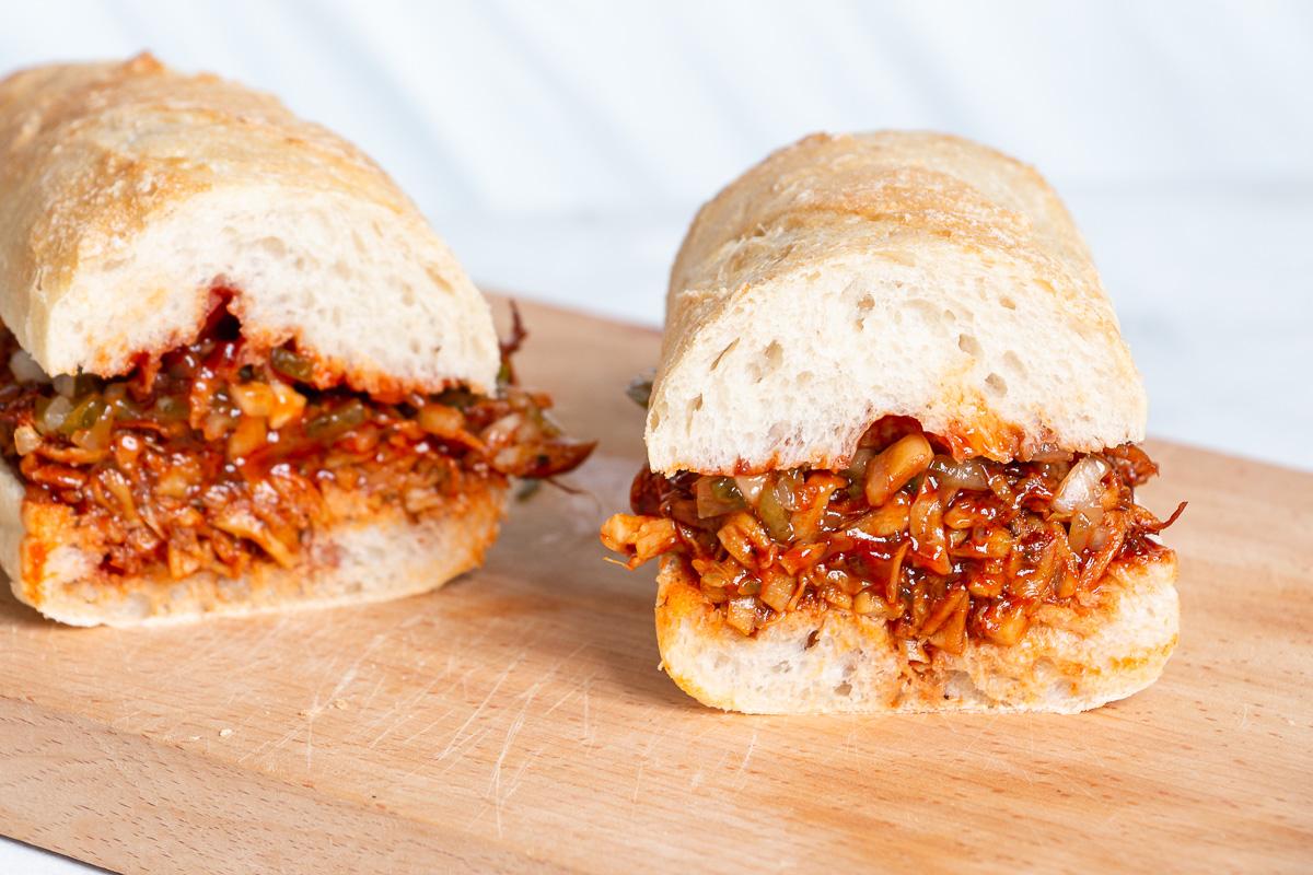 Pulled Pilz Sandwich
