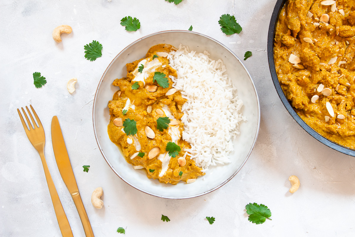 Veganes Chicken Korma